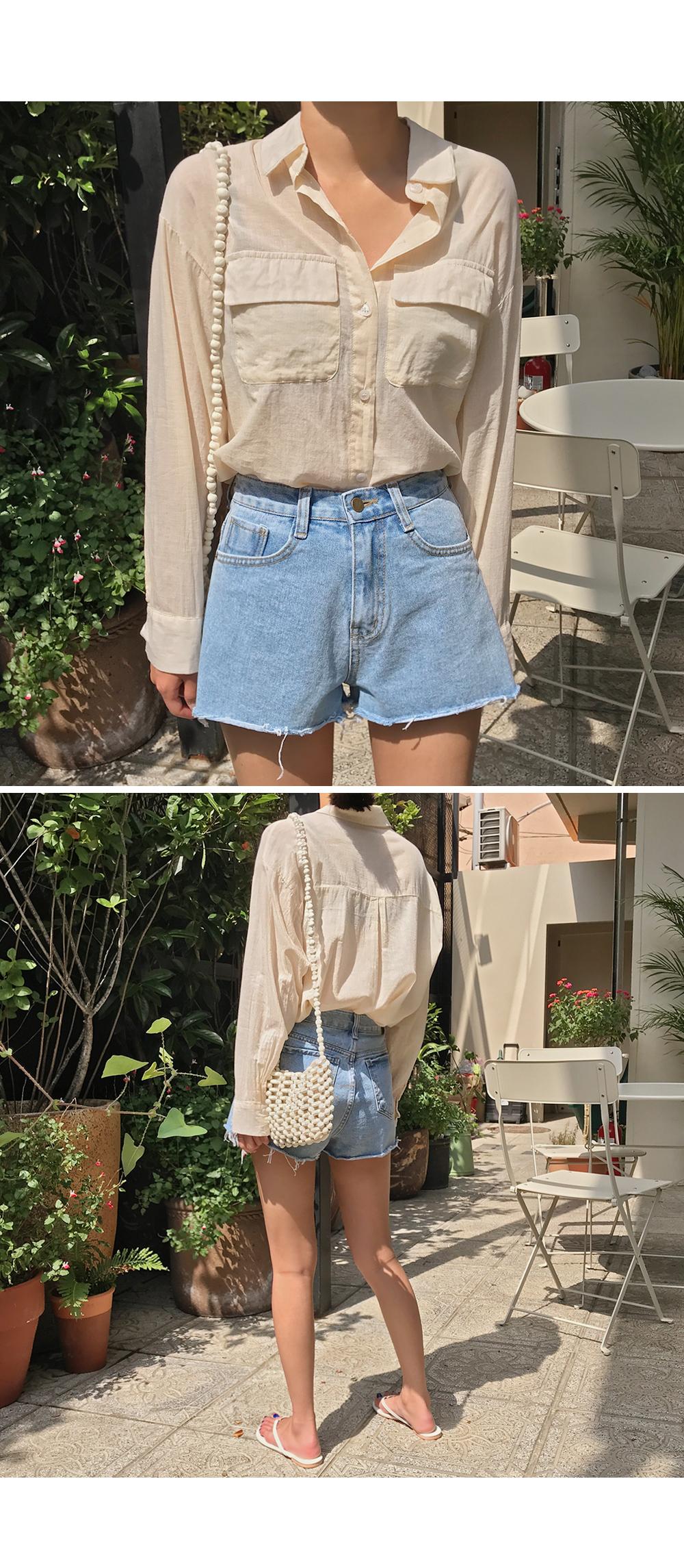 Front Pockets Cotton Shirt-holiholic.com