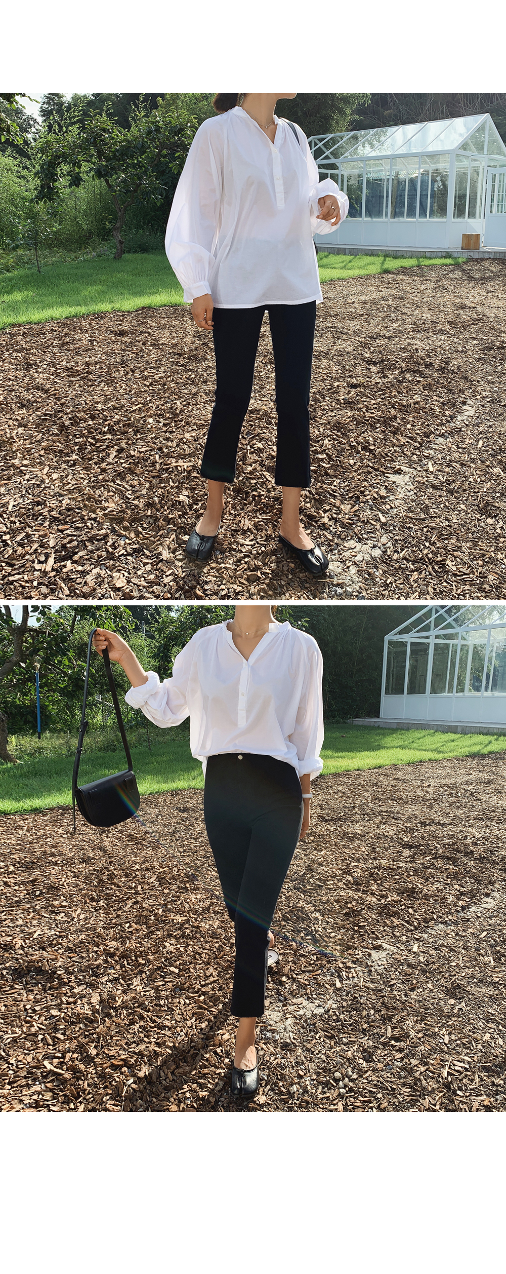 Ankle Span Cotton Trousers-holiholic.com