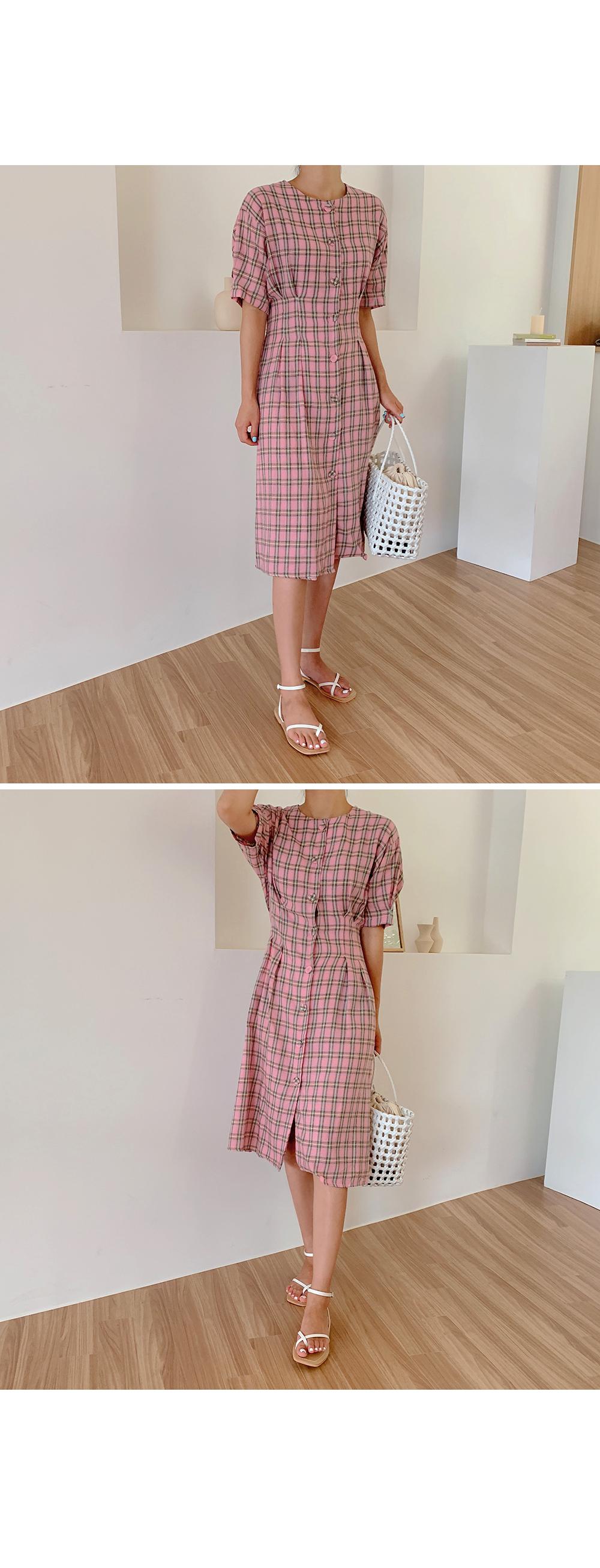 Plaid Cotton Midi Dress-holiholic.com