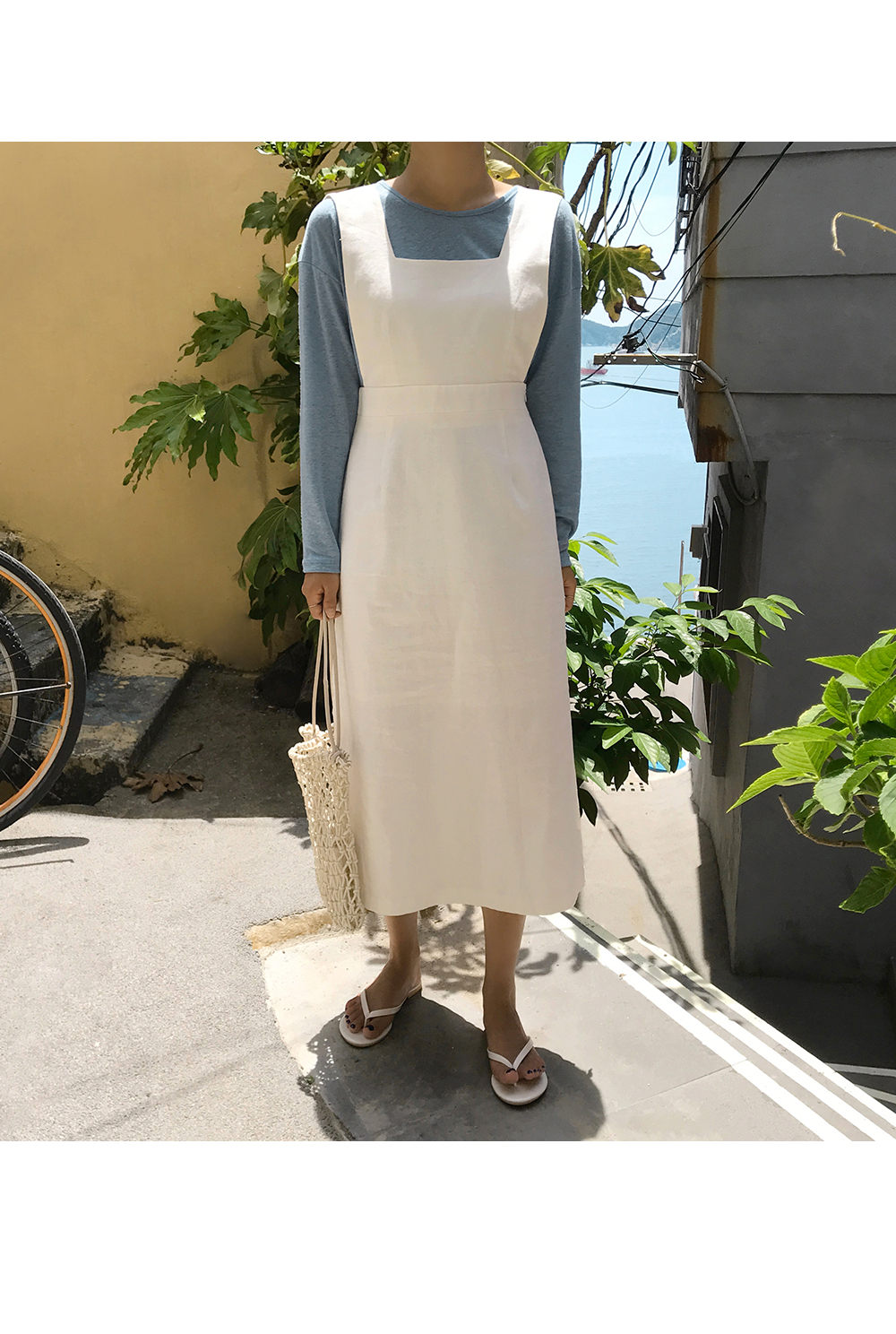 Modern Sleeveless Linen Dress-Holiholic