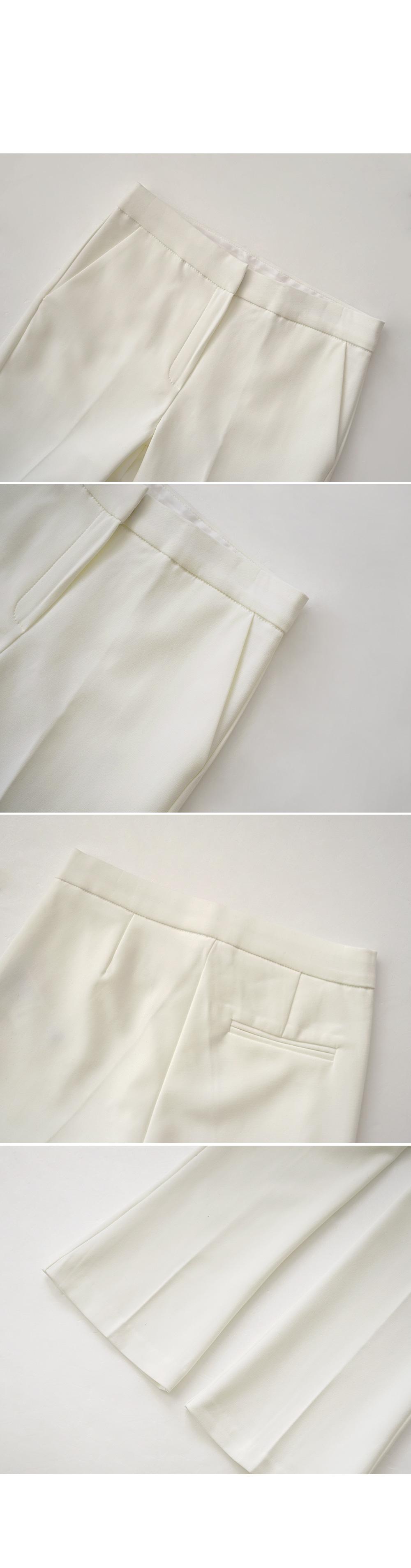 Solid Semi Boot Cut Pants-holiholic.com