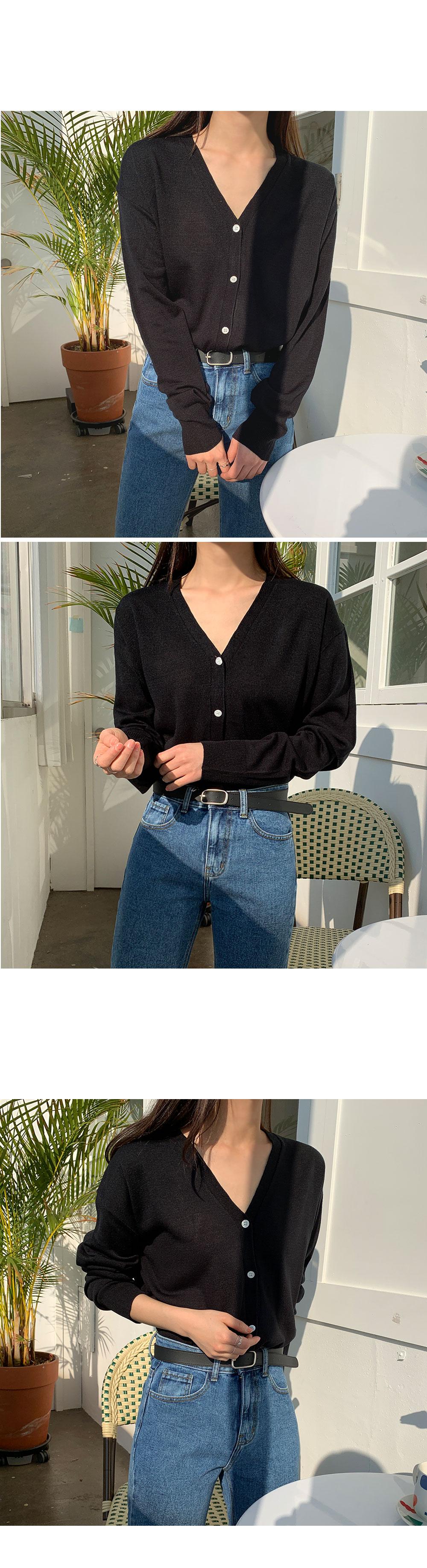 Mien V Neck Knit Cardigan-holiholic.com