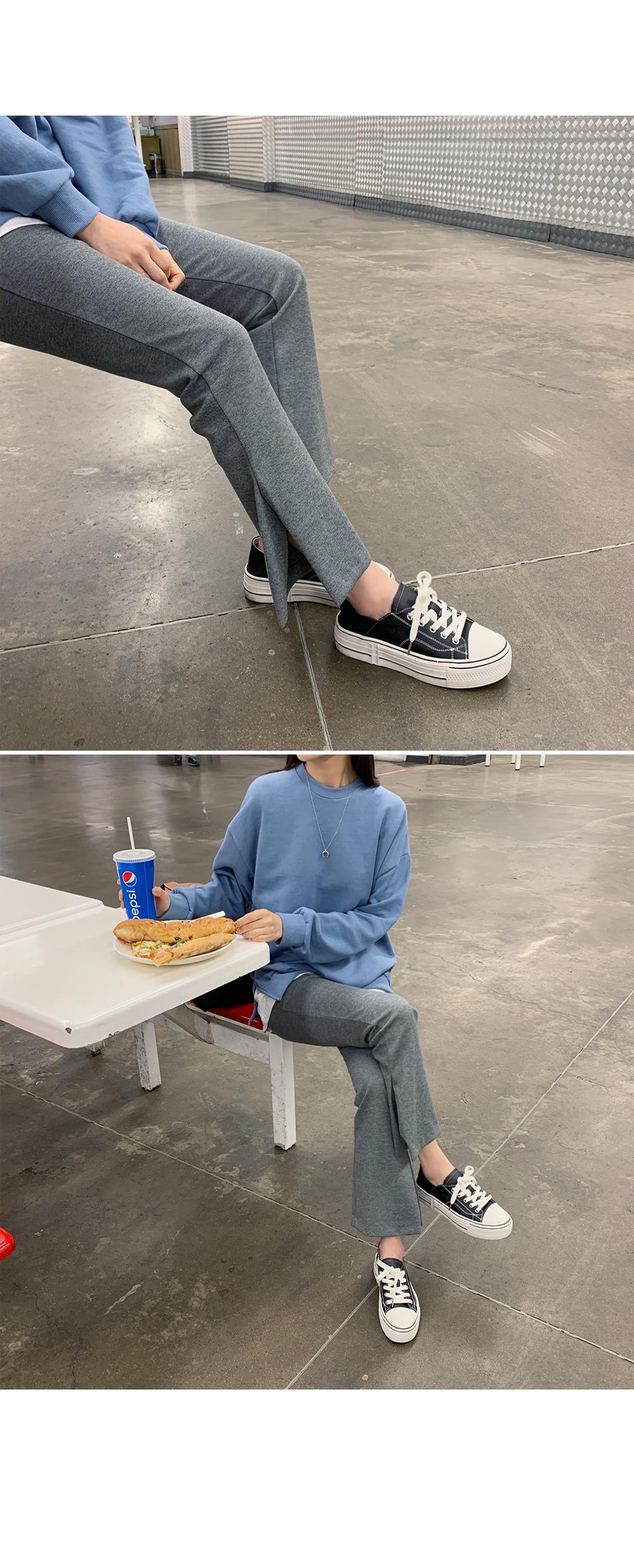 Side Slit Stretch Boot Cut Pants-holiholic.com