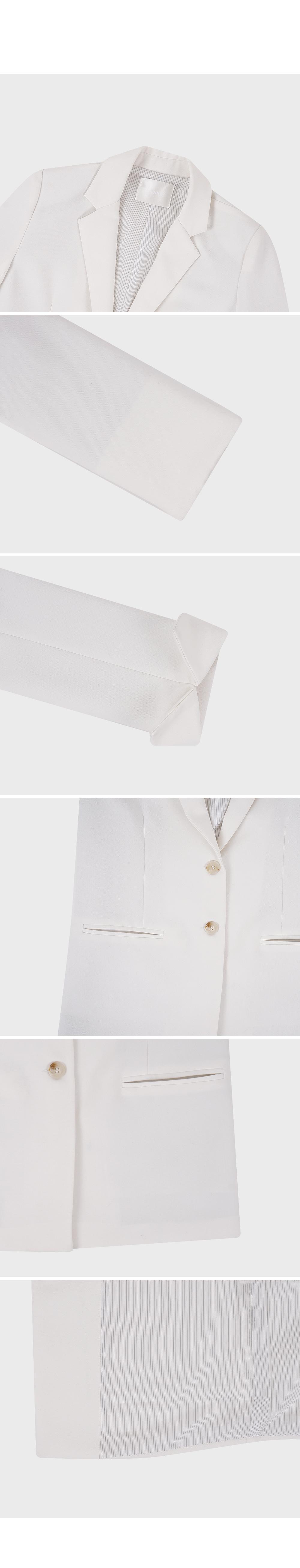 Lapel Collar Solid Blazer-holiholic.com