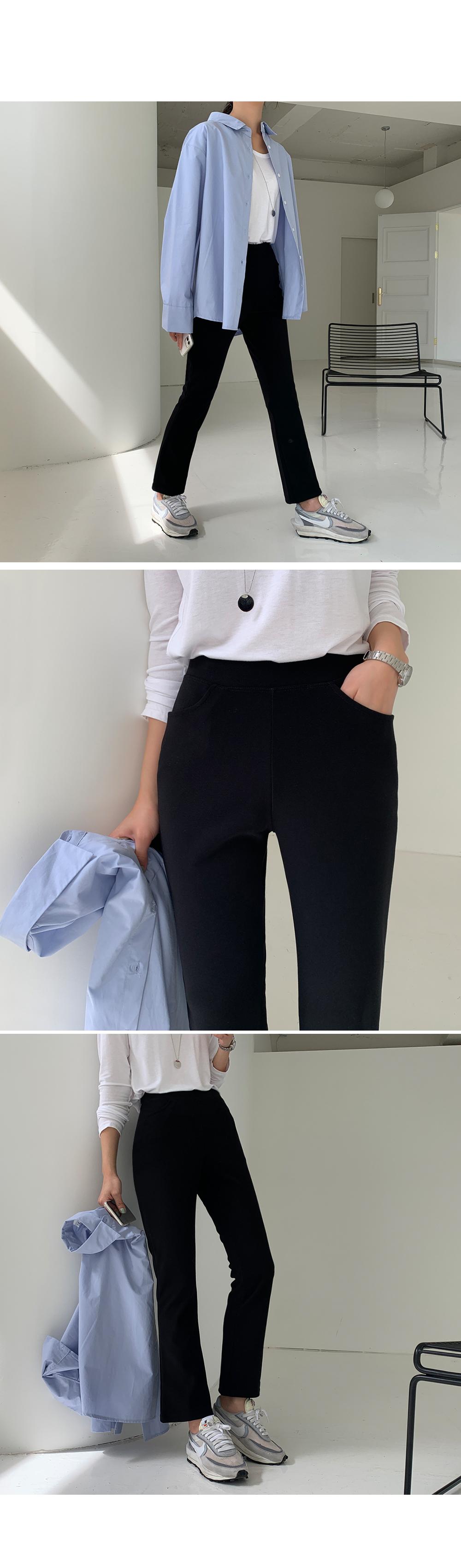 Elastic Waist Boot Cut Pants-holiholic.com