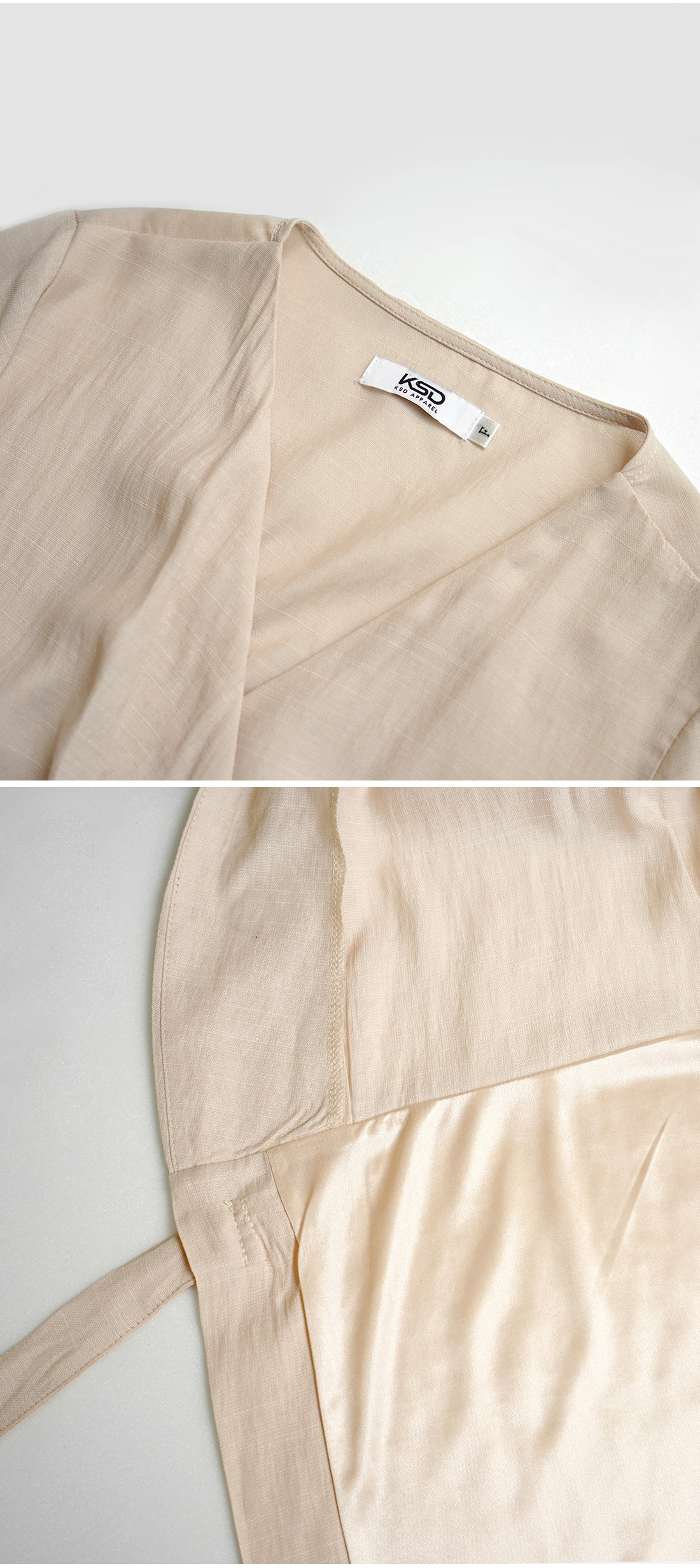 Wrap Tie Side Linen Dress-holiholic.com