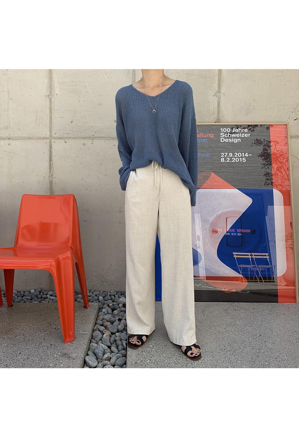 Drawstring Daily Linen Pants-holiholic.com