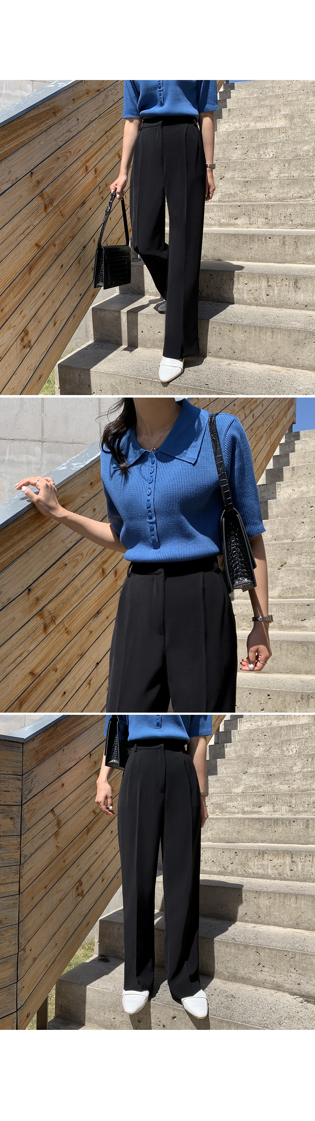 Perfect Fit Wide Trousers-holiholic.com