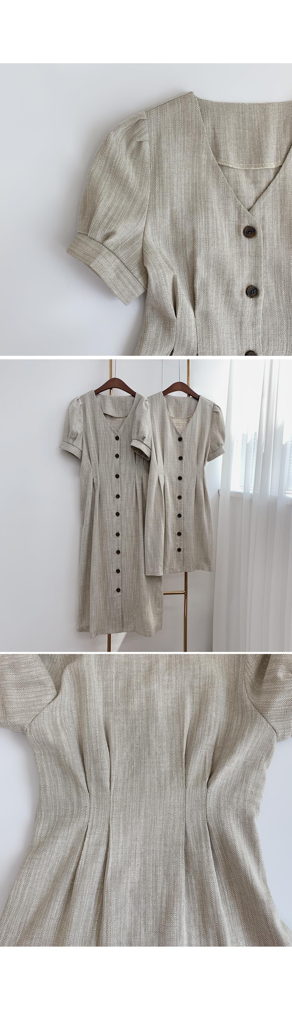 Herringbone Button Down Dress-Holiholic