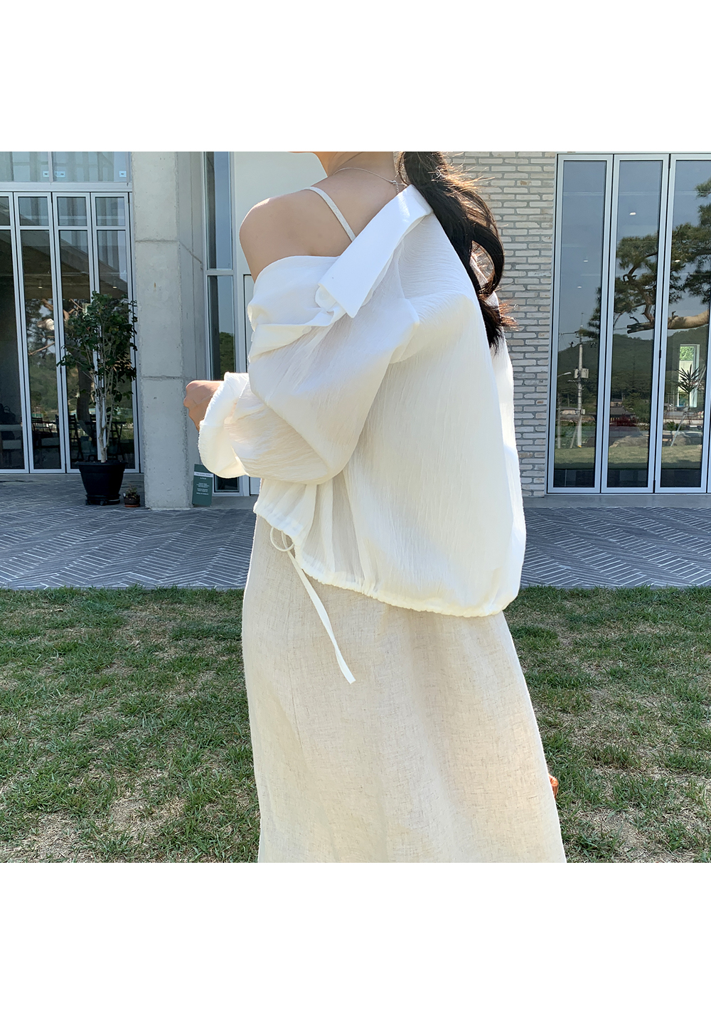 Casual Drawstring Linen Shirt-Holiholic