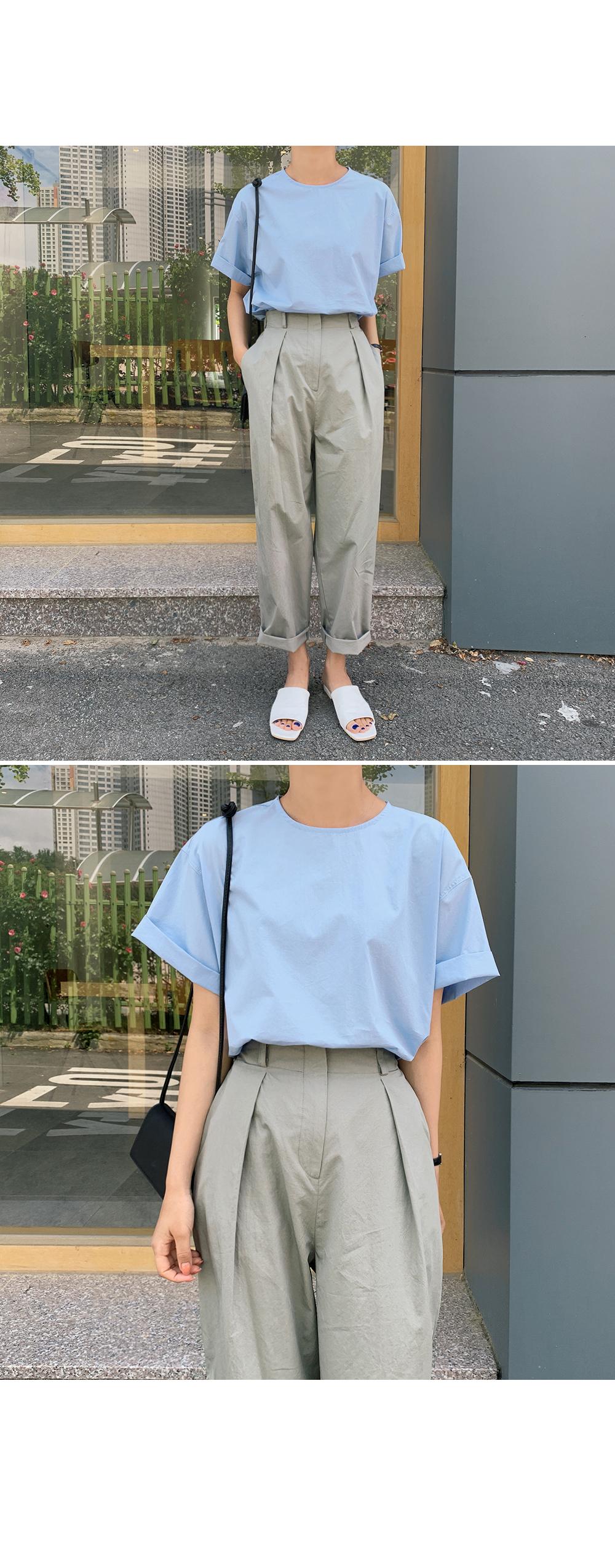 Roll Up Short Sleeve Blouse-Holiholic