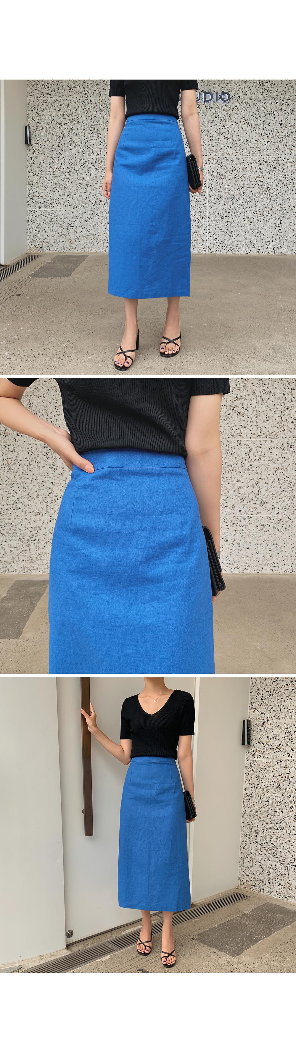 Merlin Linen Skirt  -holiholic.com