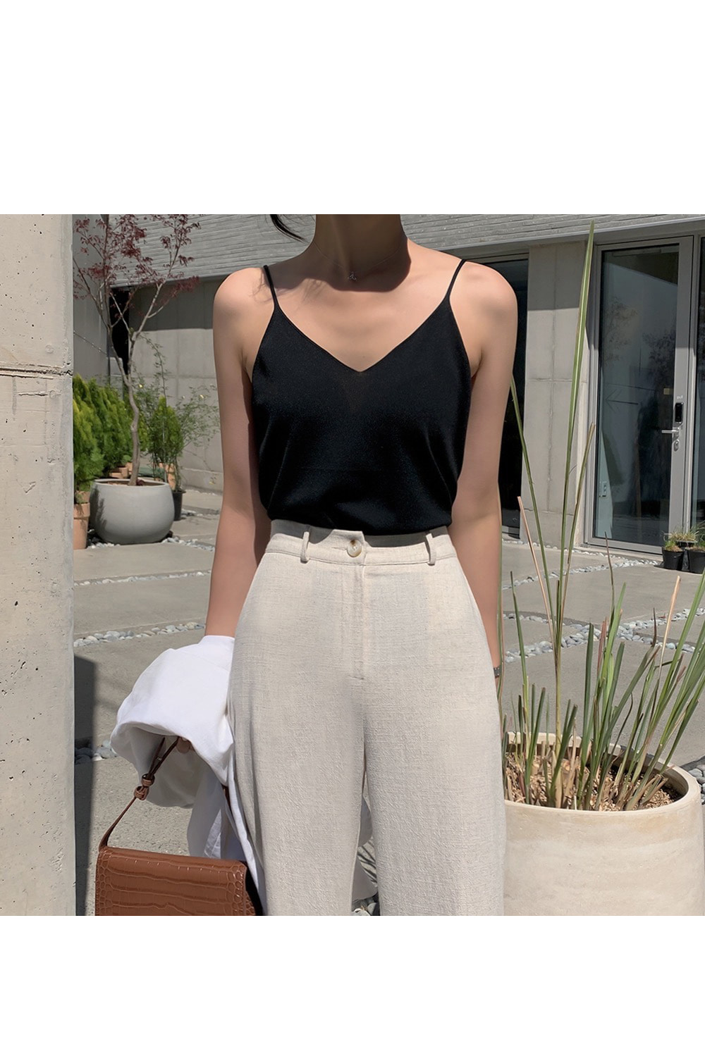 Summer Night Straight Linen Pants-holiholic.com