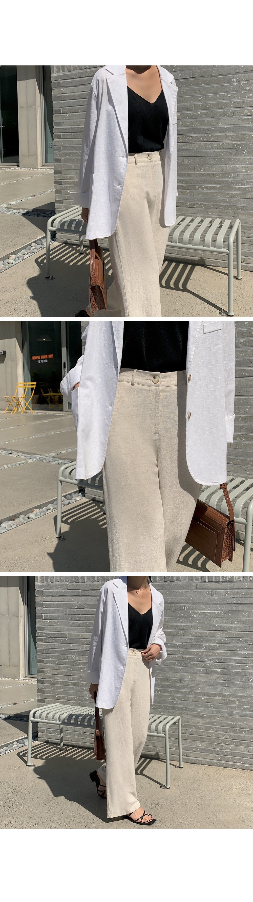 Relaxed fit Daily Linen Blazer-holiholic.com