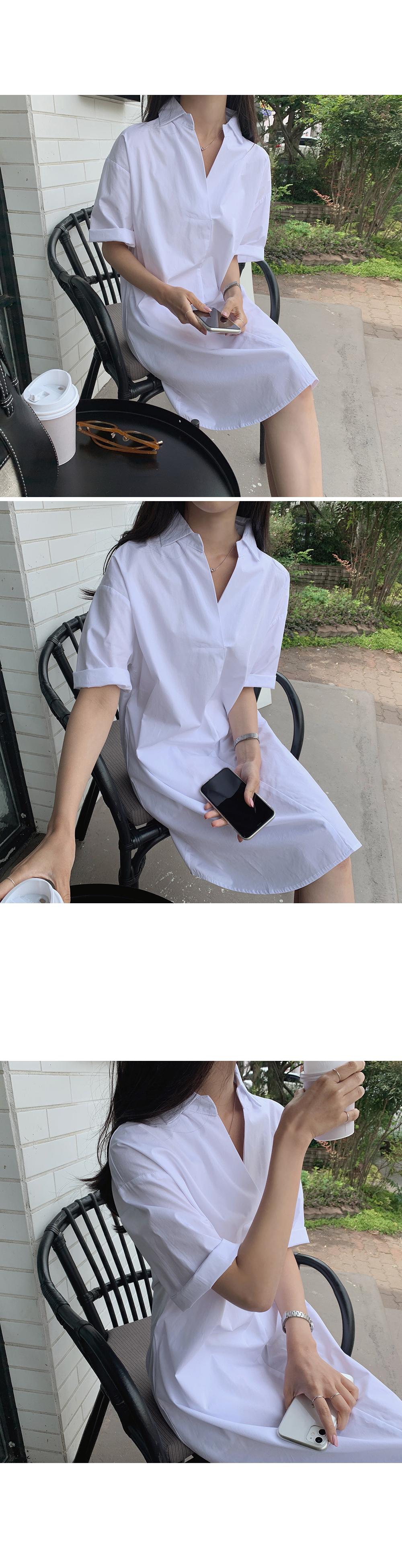 Cotton Shirt Midi dress-holiholic.com