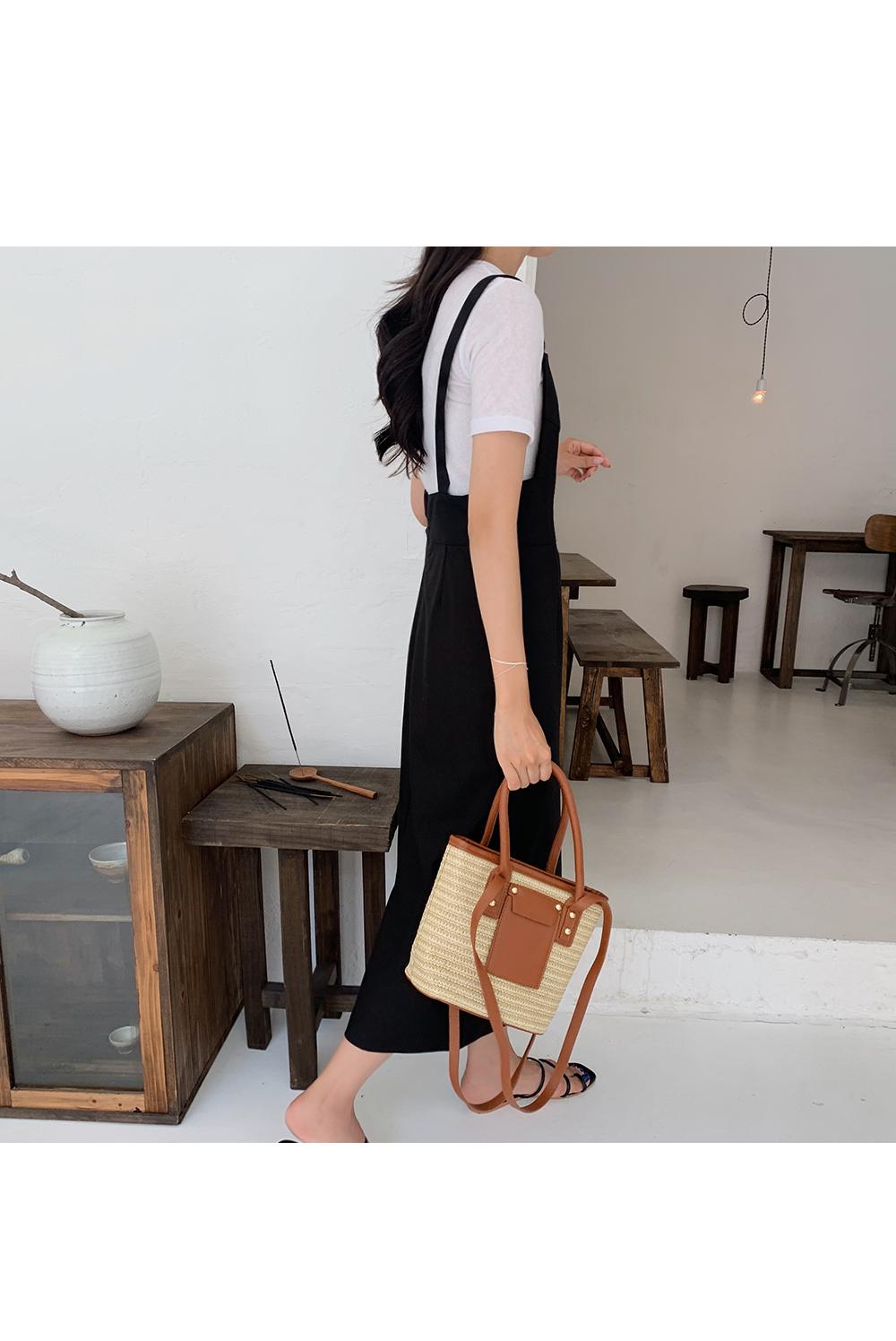 Black Sleeveless Linen Dress- Holiholic