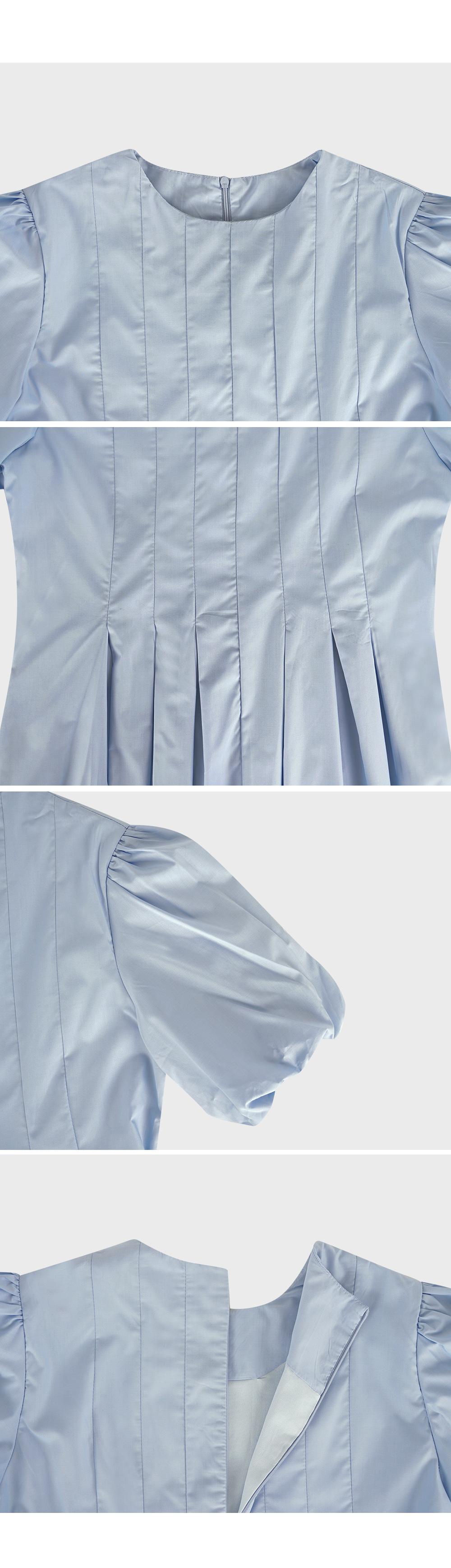 Pintuck Puff Sleeve Dress-Holiholic