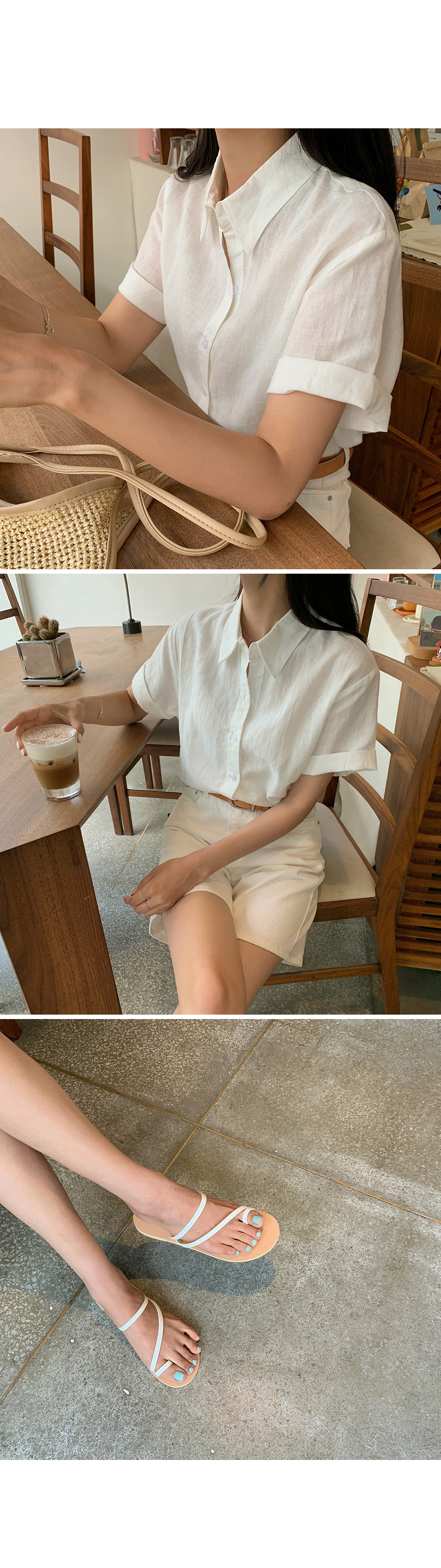 Ivory Linen Shirt-holiholic.com