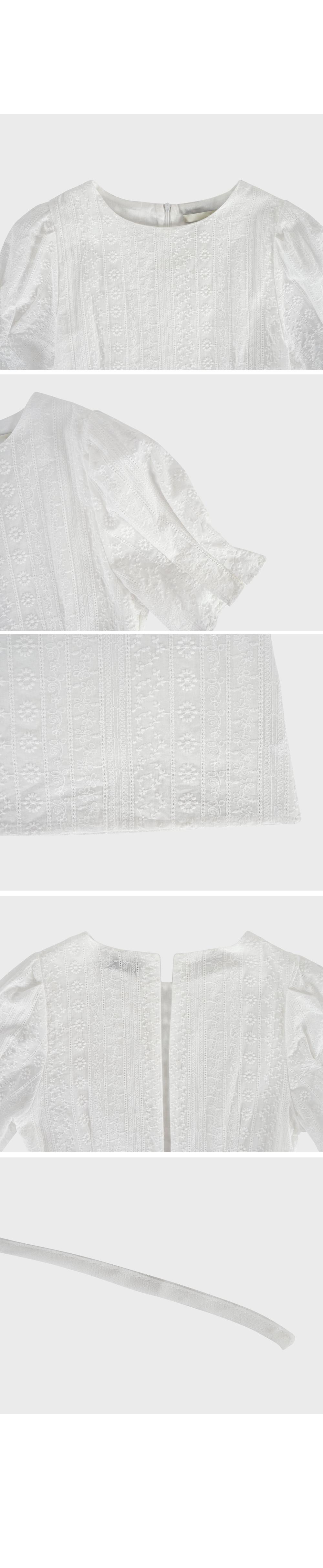 Embroidery White Mini Dress- Holiholic