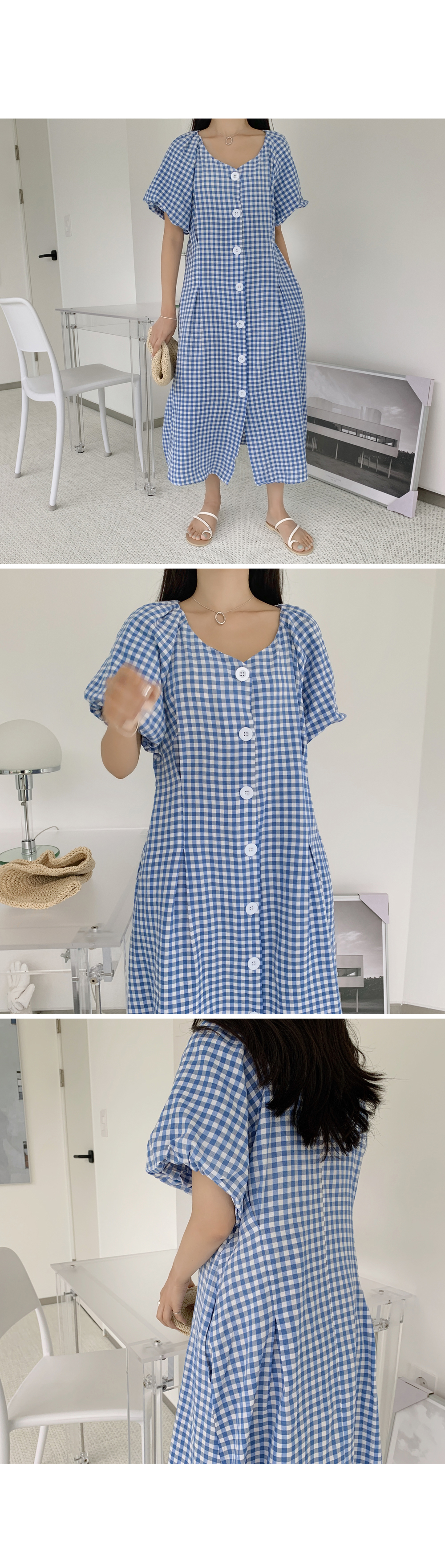 Lovely Mini Check Dress-holiholic.com