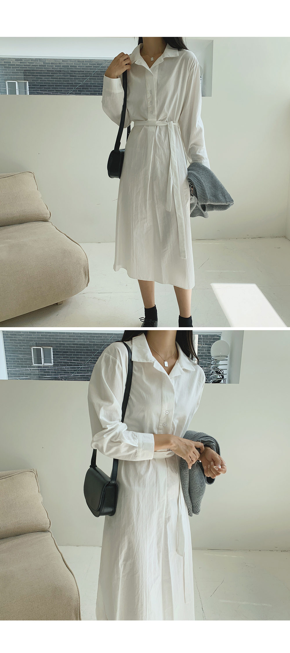 Emily White Shirt Dress-holiholic.com