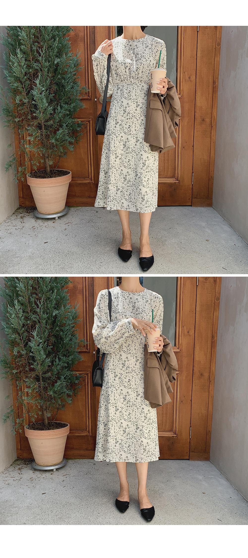 Ella Ivory Flower Dress -holiholic.com