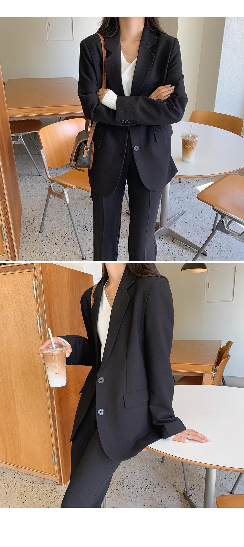 Basic Single Jacket in Black-holiholic.com