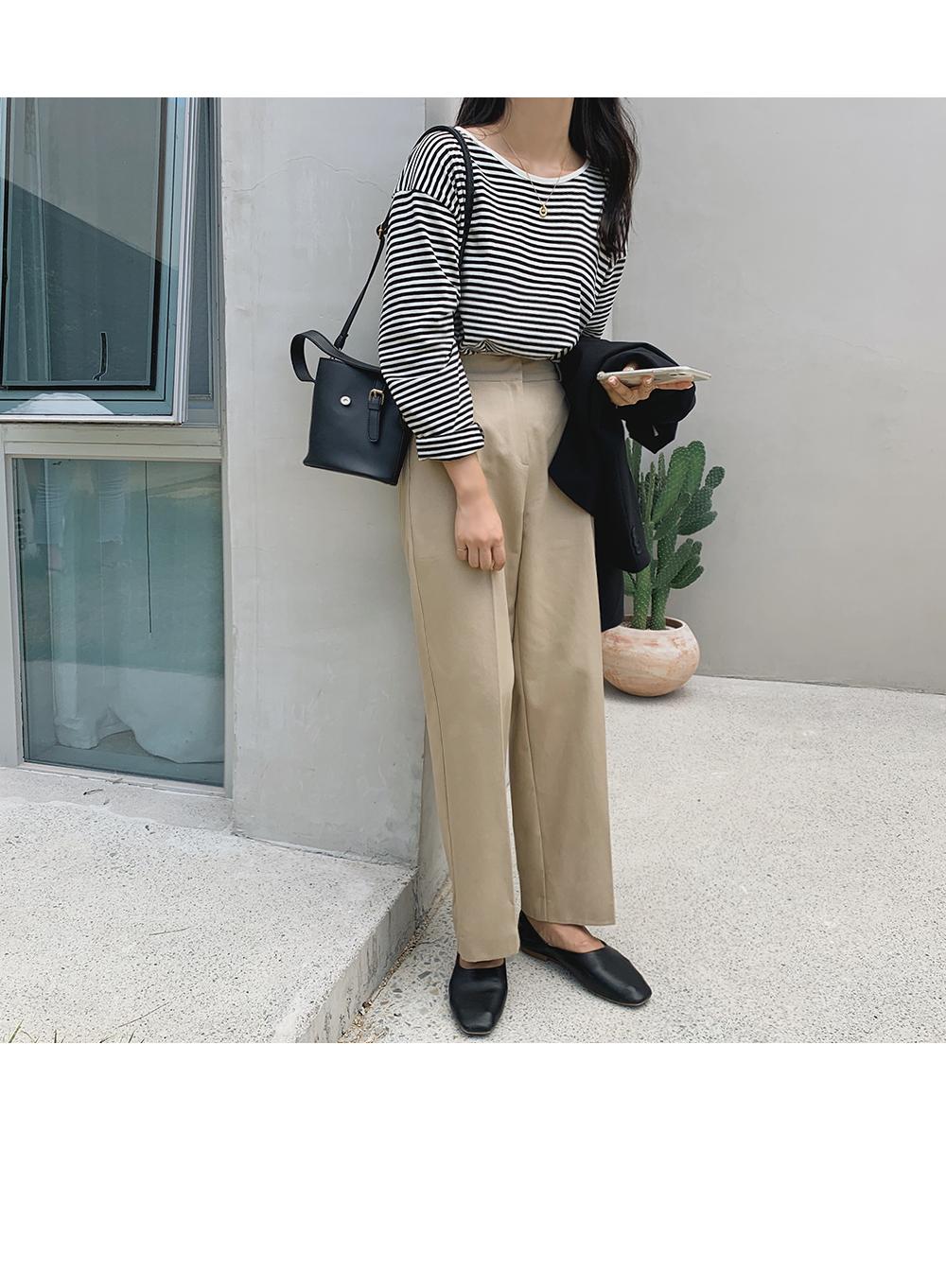 Modern Cotton Wide Pants-holiholic.com