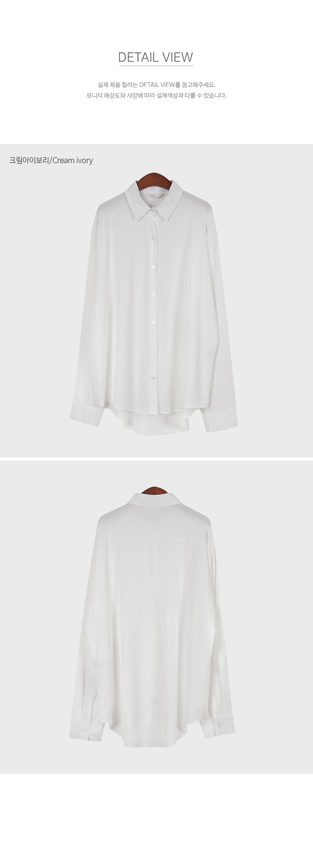 Ivory Classic Button Up Blouse-holiholic.com