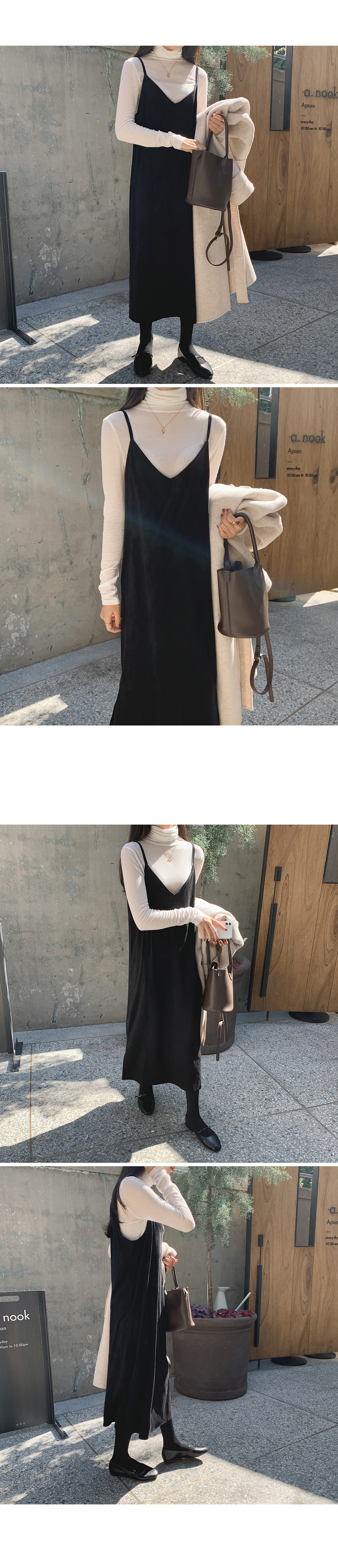 Suede Sleeveless Layered dress-holiholic.com