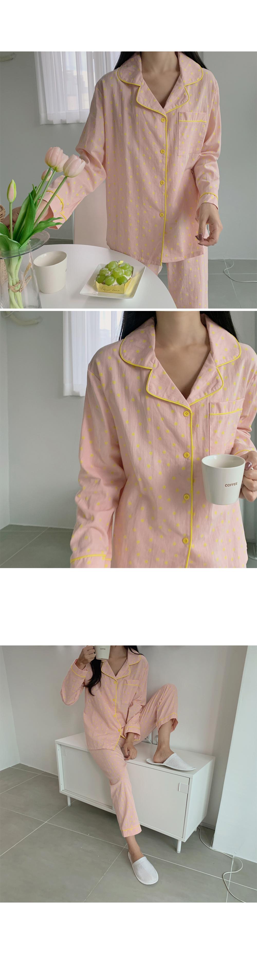 Polka Dot Pajama Set-holiholic.com