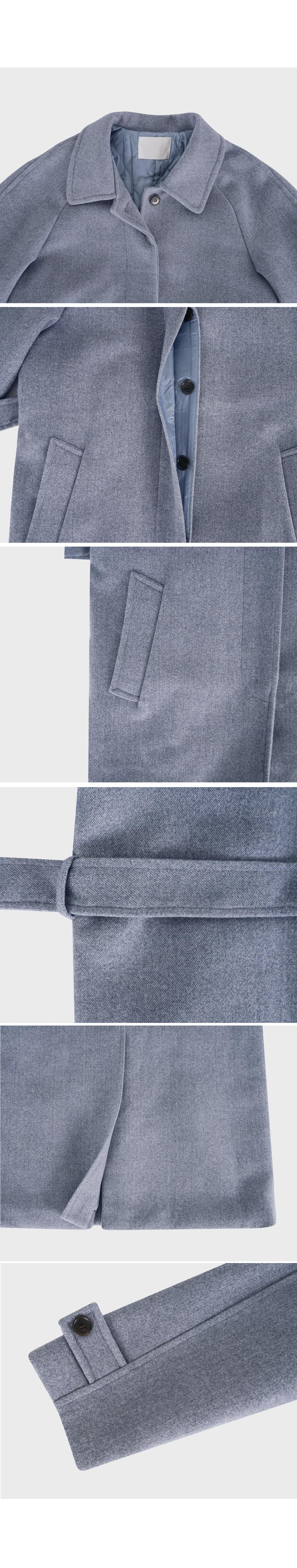 Tone Down Single Wool Coat-holiholic.com