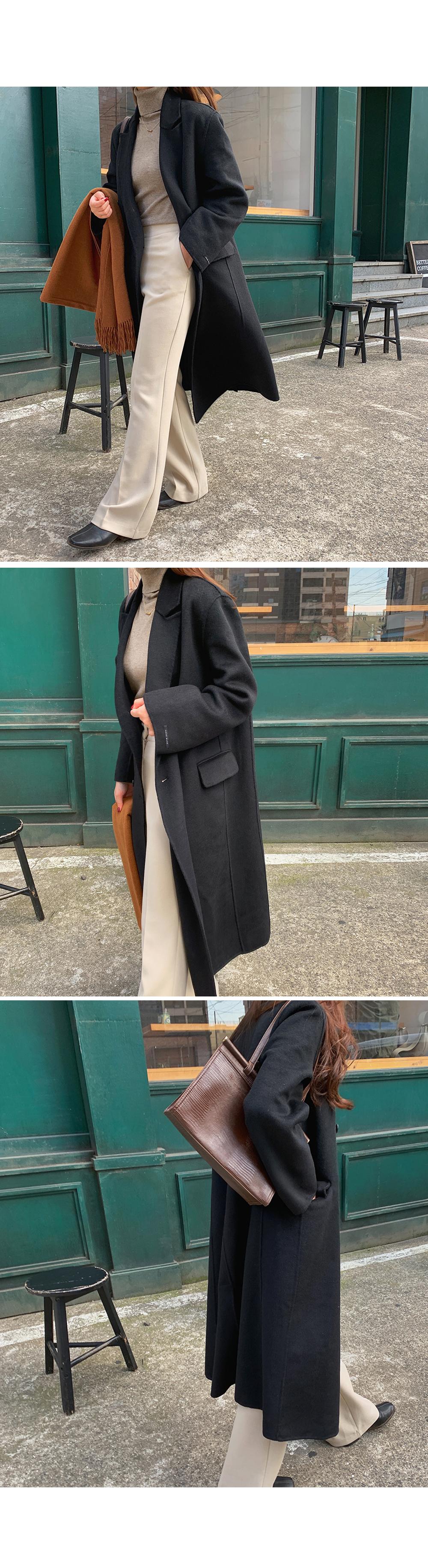 [Handmade] Classic Long Wool Coat-holiholic.com