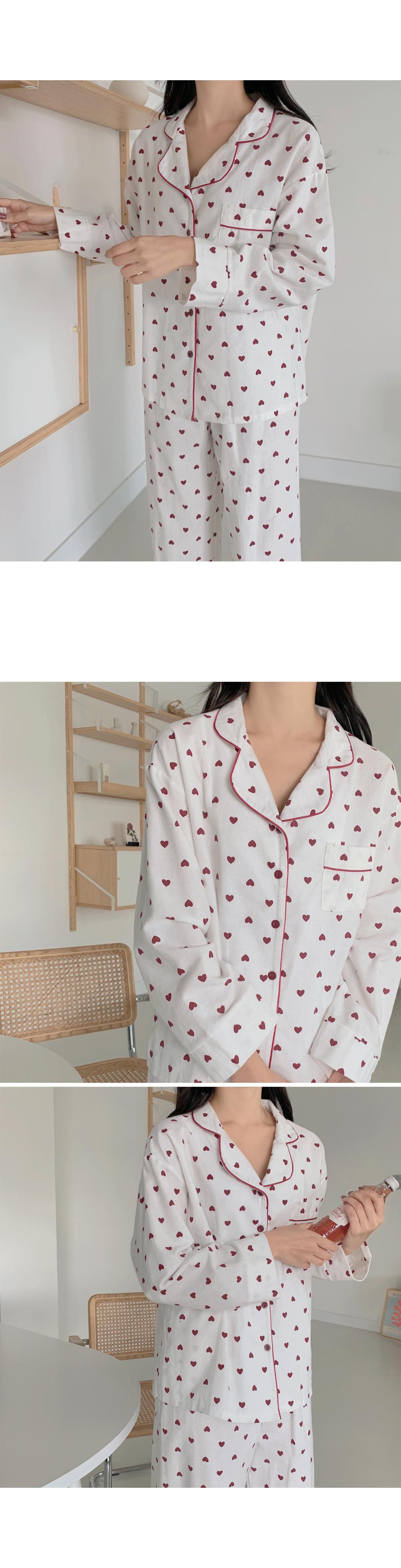 Love Heart Pajama Set-holiholic.com