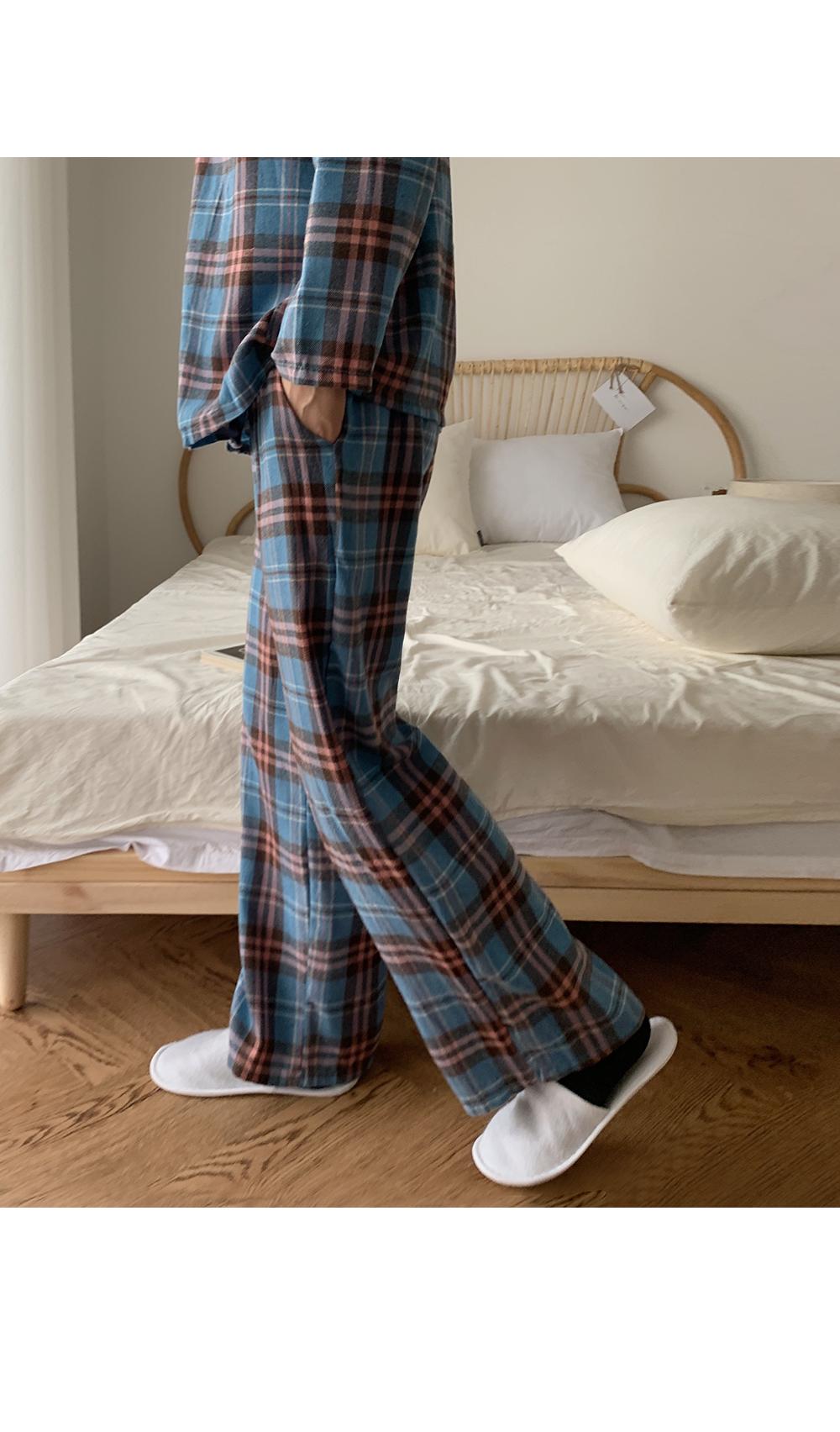 Plaid Check Pajama Set-holiholic.com