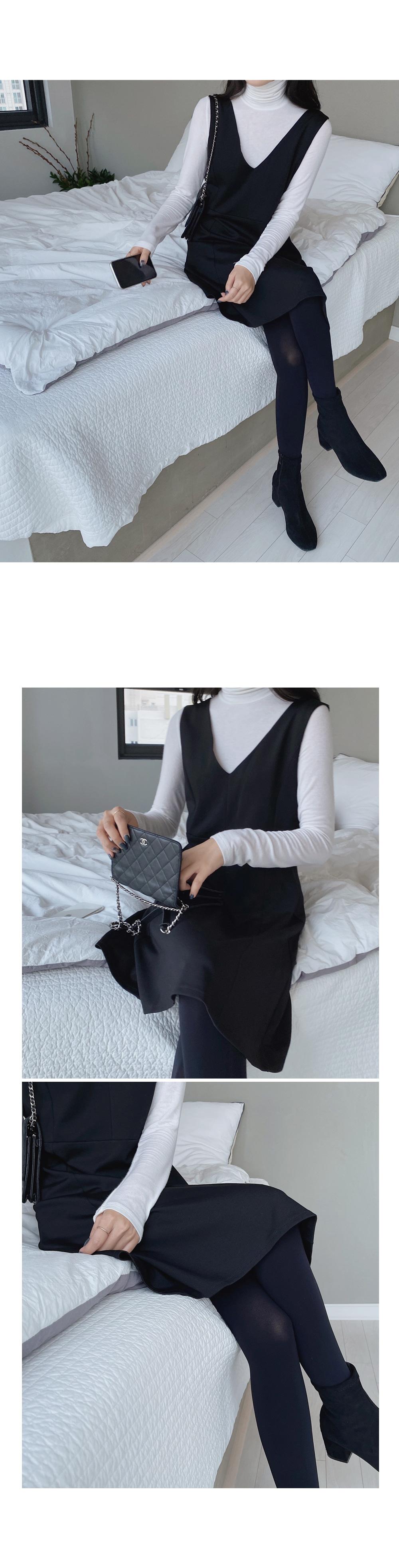 All Black Flare Dress-holiholic.com