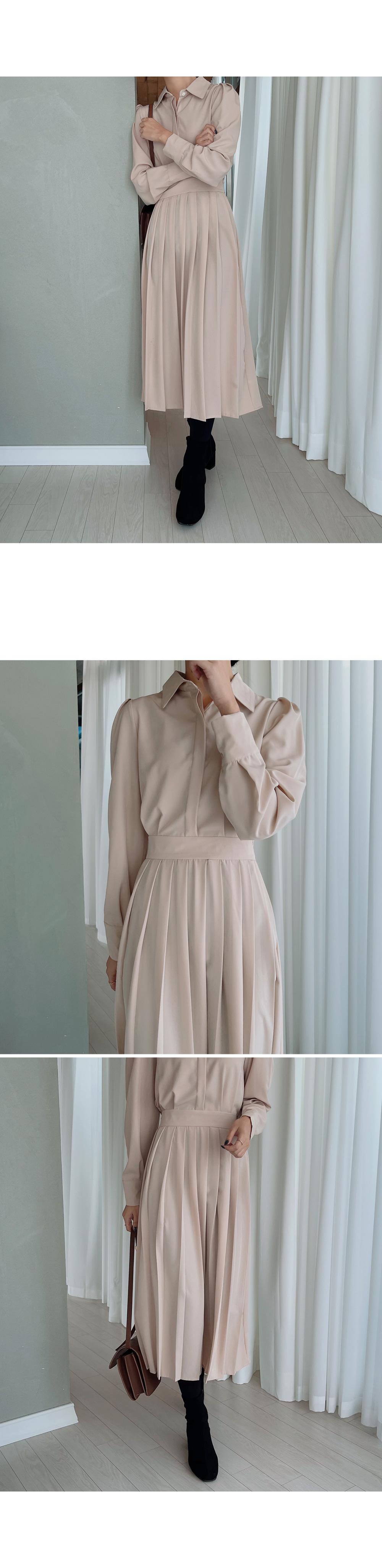 Shirt Pleats Long Dress-holiholic.com