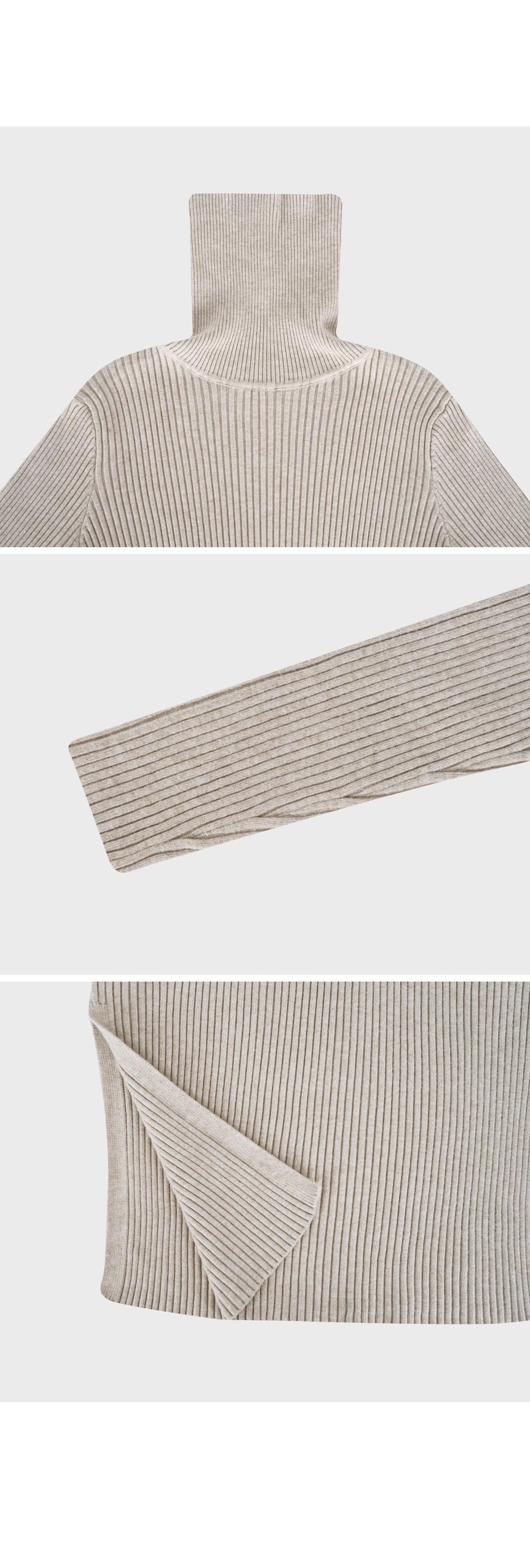 Turtleneck Wool Knit Dress-holiholic.com