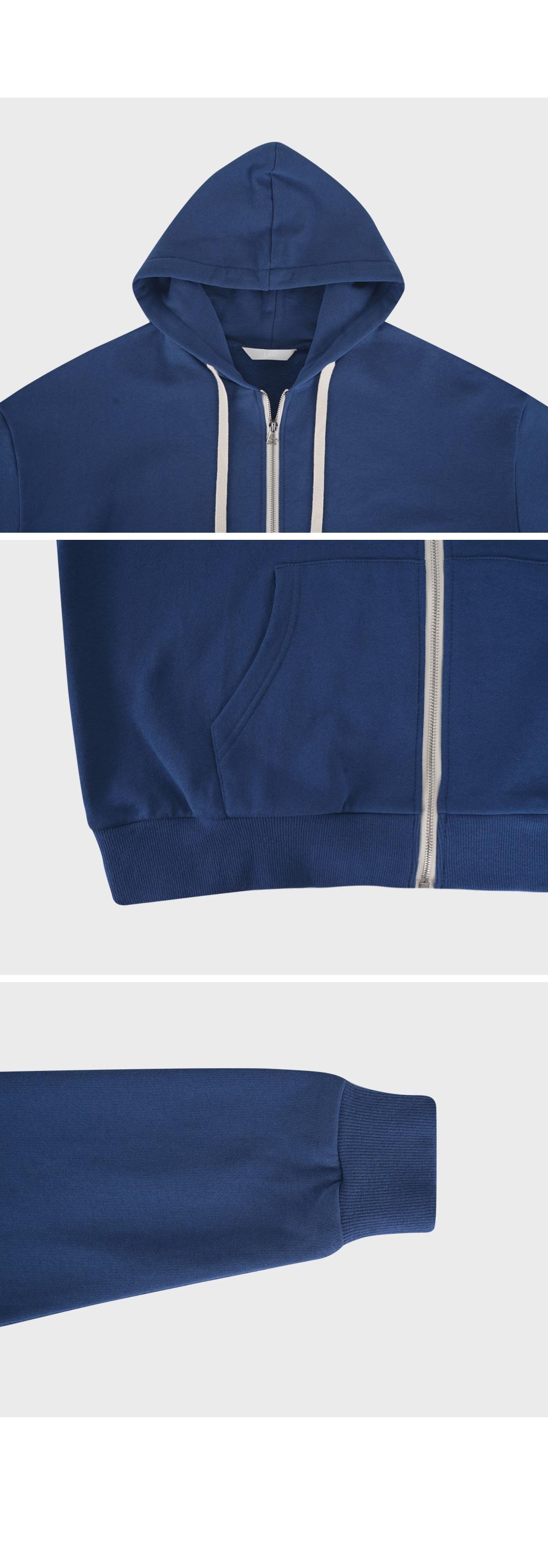 Semi Crop Zip Hoodie-holiholic.com