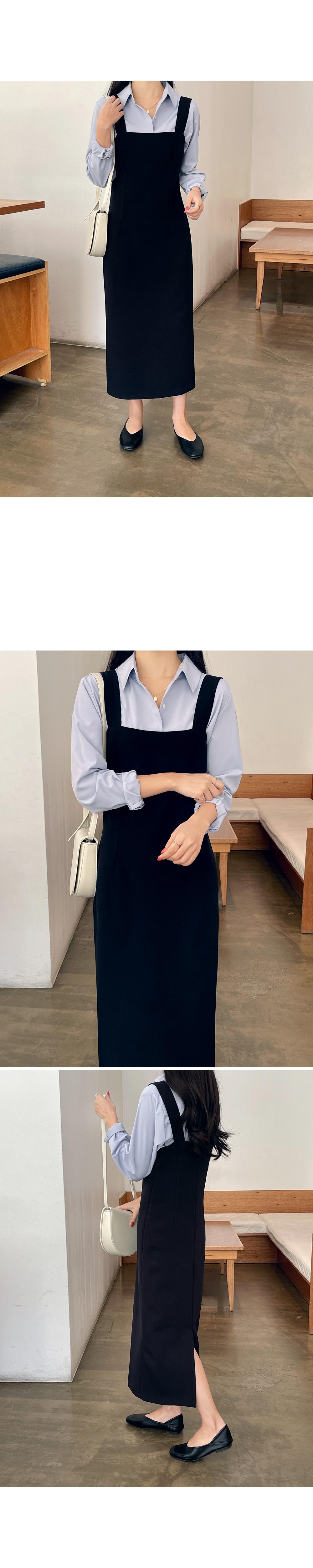 Square Neck Layered Long Dress-holiholic.com
