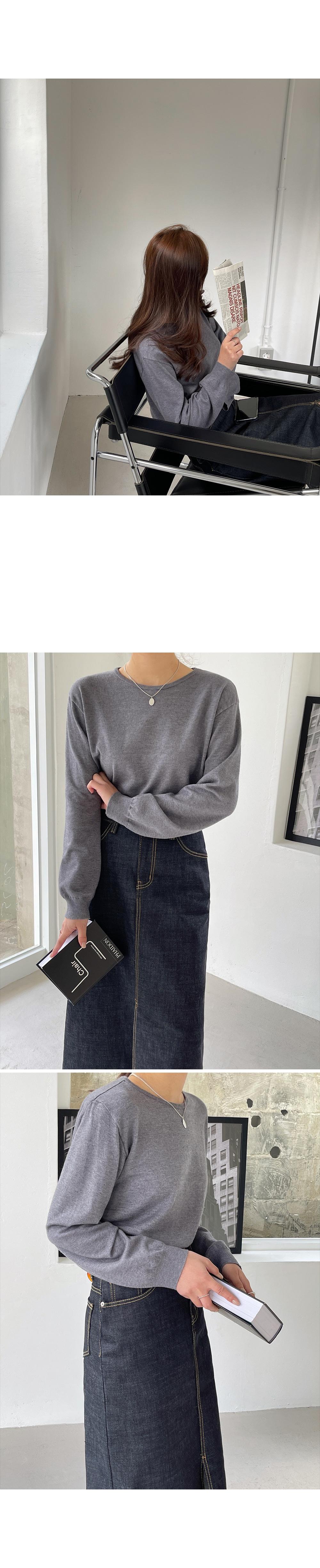 Soft Round Knit Top-holiholic.com