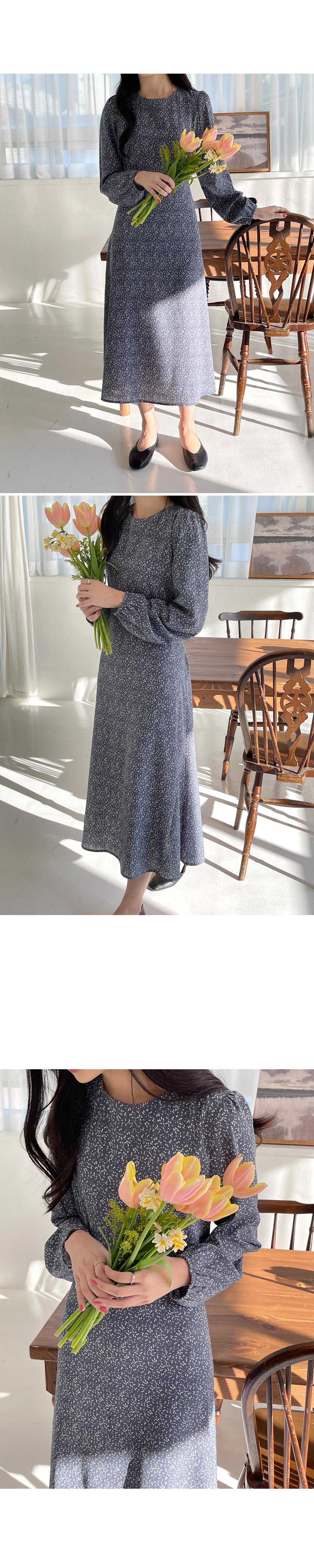 Blue Blooming Long Dress-holiholic.com