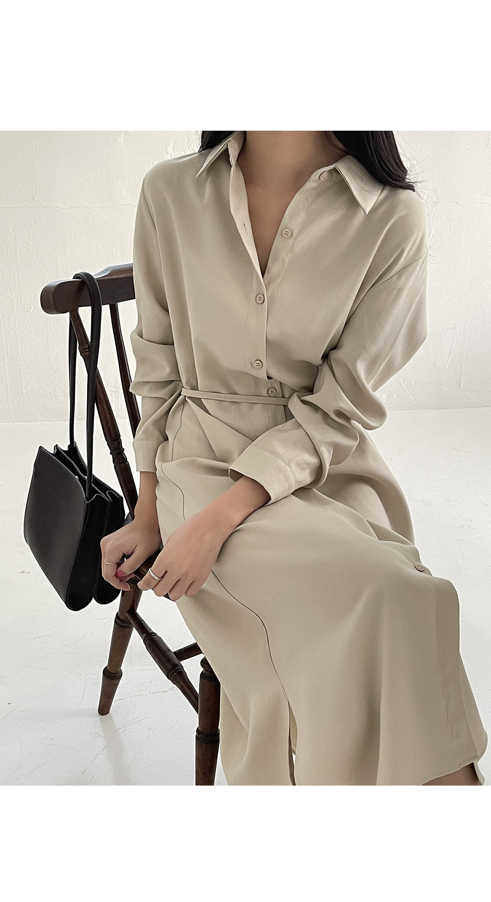 Lazy Shirt Long Dress-holiholic.com