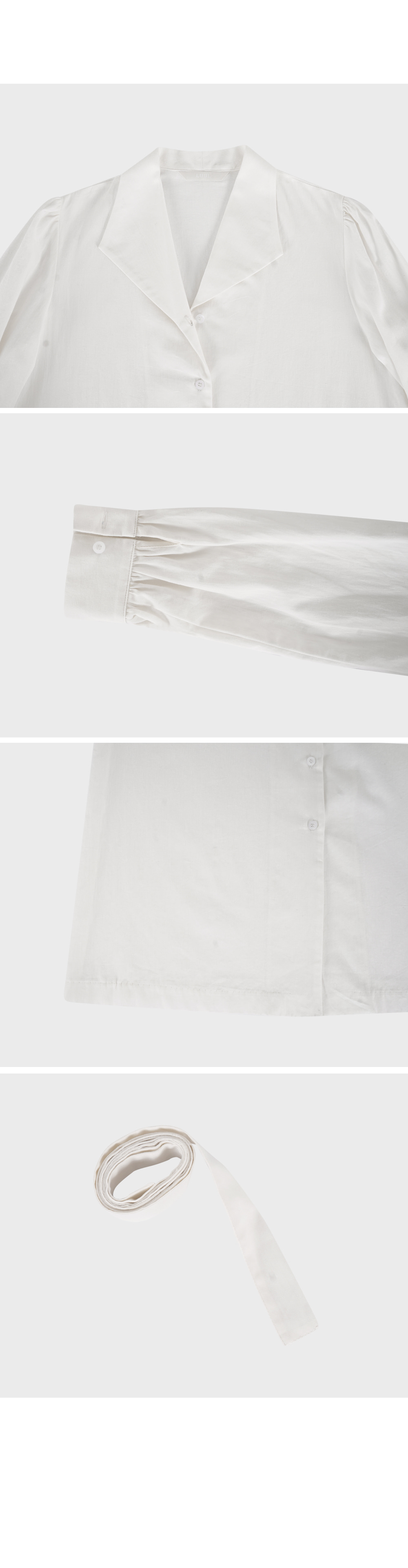 Ivory Belted Button-Down Dress-holiholic.com