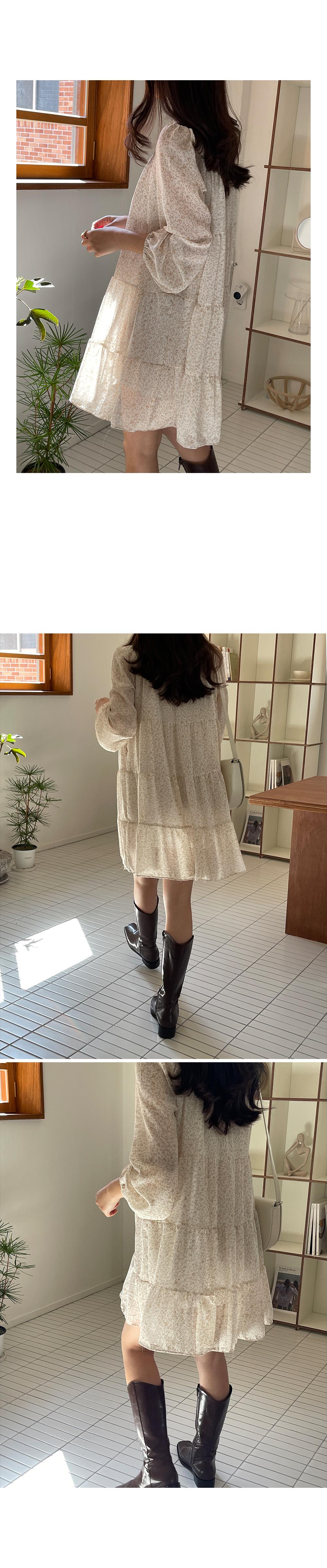 Soft Leopard Chiffon Dress-holiholic.com