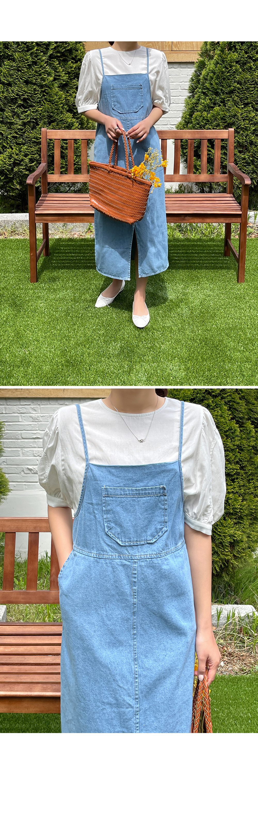 Denim Dress with Suspenders-holiholic.com