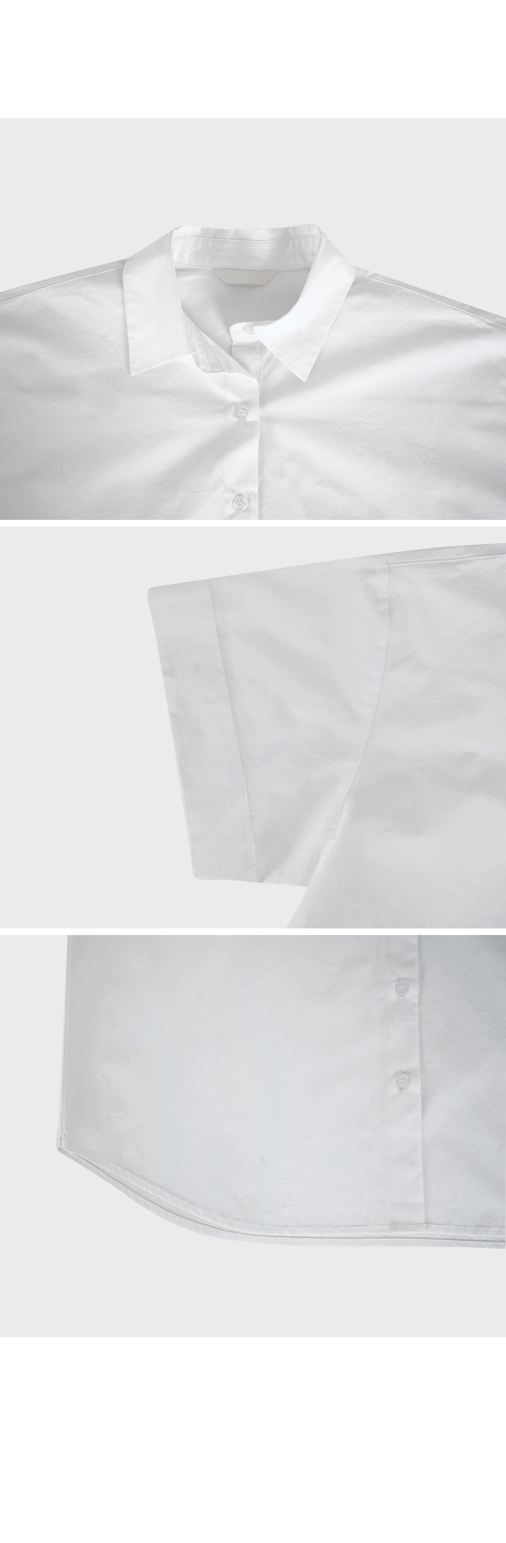 White Short Sleeve Cotton Shirt- Holiholic