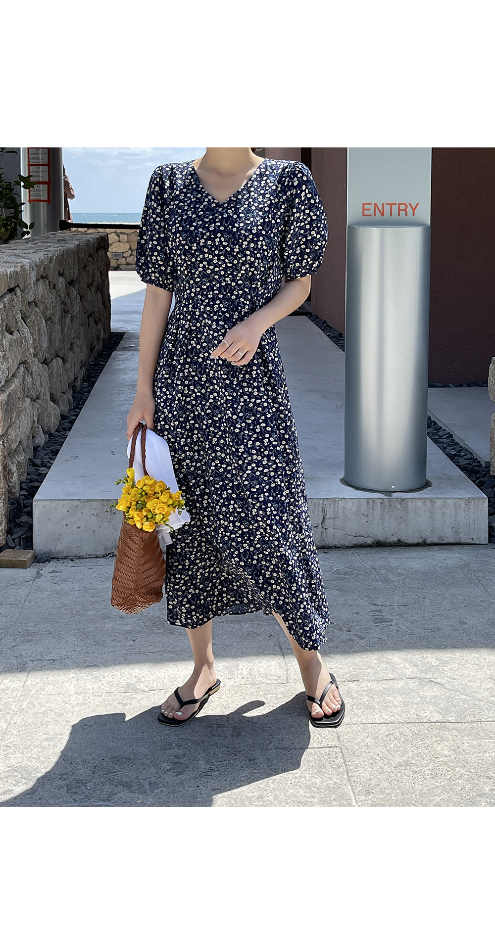 All Over Floral Long Dress-holiholic.com