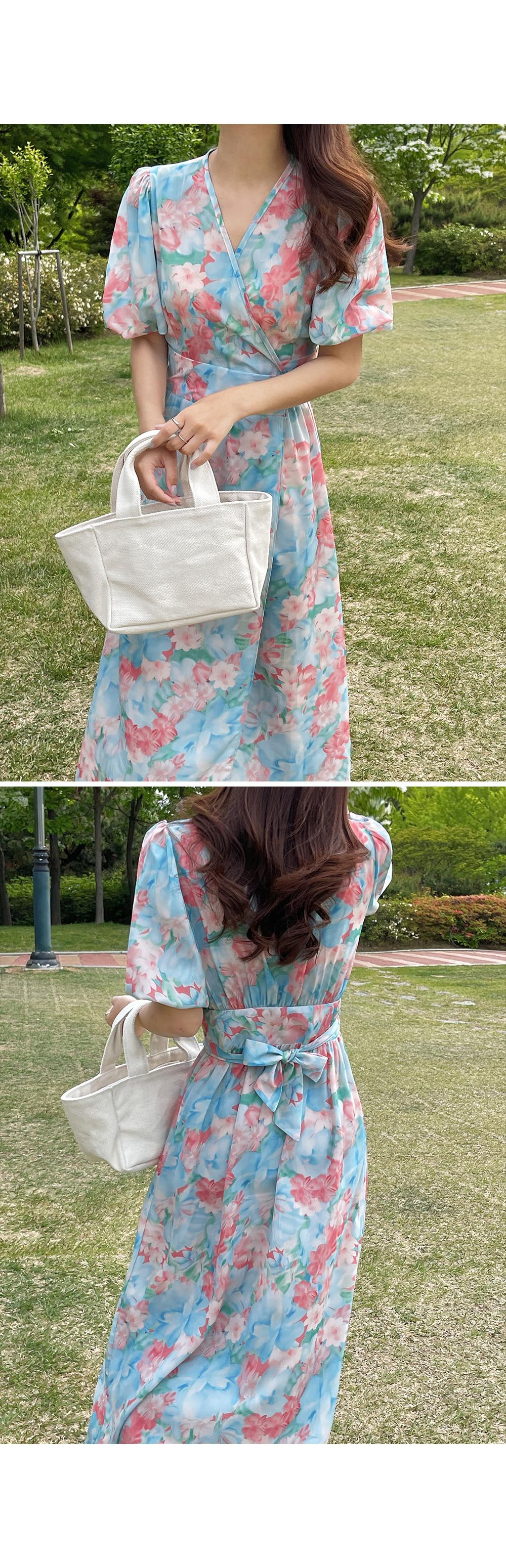 Blossom Wrap Dress-holiholic.com
