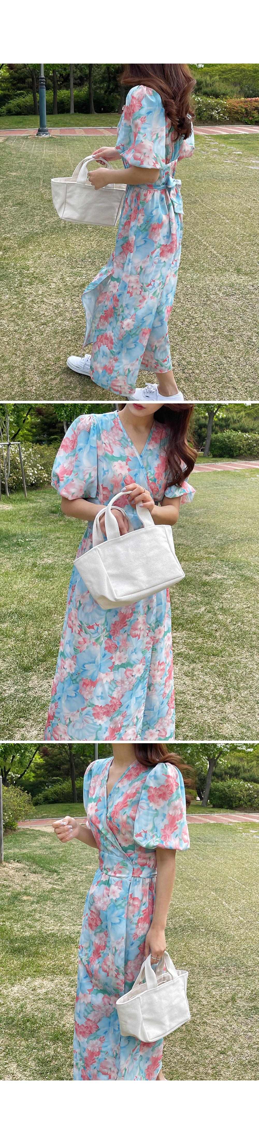 Blossom Wrap Maxi Dress-holiholic.com